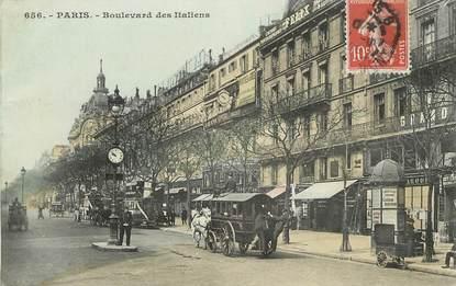 """CPA FRANCE 75002 """"Paris, bld des Italiens"""" / BUS"""