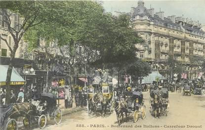 """CPA FRANCE 75002 """"Paris, bld des Italiens, carrefour Drouot"""""""