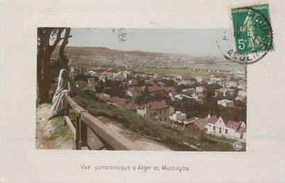 """CPA ALGERIE """"Vue panoramique d'Alger et Mustapha"""""""