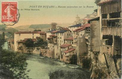 ".CPA  FRANCE 26 "" Pont en Royans, Maisons  suspendues sur la Bourne"""