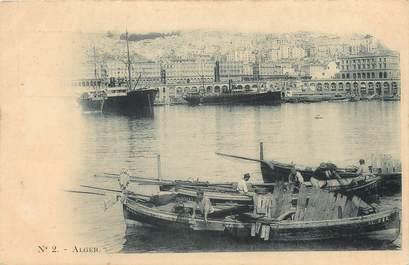 "CPA ALGERIE ""Alger"" / BATEAU / Ed. Vollenweider"