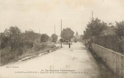 """.CPA FRANCE 26 """" St Jean en Royans, Quartier de la Croix Rouge, avenue de la gare"""""""