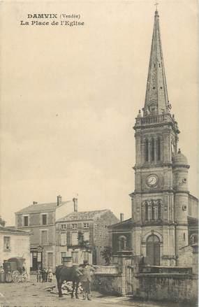 """.CPA FRANCE 85 """" Damvix, La place de l'église"""""""