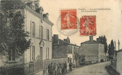 """.CPA FRANCE 85 """" La Jaudonnière, La grande rue"""""""