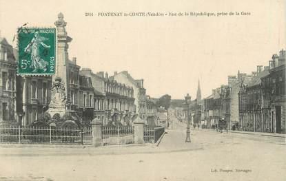 """.CPA  FRANCE 85 """" Fontenay le Comte, Rue de la République prise de la gare"""""""