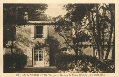 """.CPA  FRANCE 85 """" Ile de  Noirmoutier, Maison de Pierre l'Ermite, la Garennerie"""""""