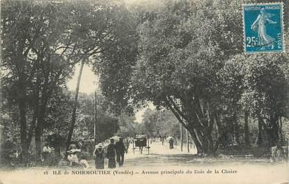 """.CPA  FRANCE 85 """" Ile de  Noirmoutier, Avenue principale du bois de la Chaize"""""""
