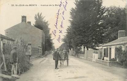 """.CPA FRANCE 85 """"St Jean de Monts"""", Avenue de la Mer"""""""