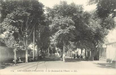 """.CPA FRANCE 85 """"Les Sables d'Olonne,  Le Boulevard de l'Ouest"""""""