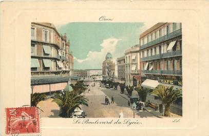 """CPA ALGERIE """"Oran, le bld du Lycée"""""""