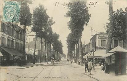 """.CPA FRANCE 94  """" Alfortville, La rue du Pont d'Ivry"""""""