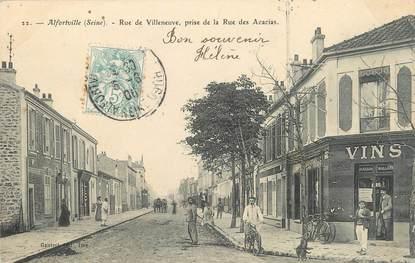 ". CPA FRANCE 94  "" Alfortville, Rue de Villeneuve  """
