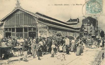 ". CPA FRANCE 94  "" Alfortville,  Le marché """
