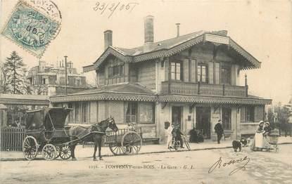 """. CPA FRANCE 94  """" Fontenay sous Bois, La gare """""""