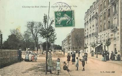 """CPA FRANCE 94 """"Choisy le Roi, avenue de l'Hotel de ville"""""""