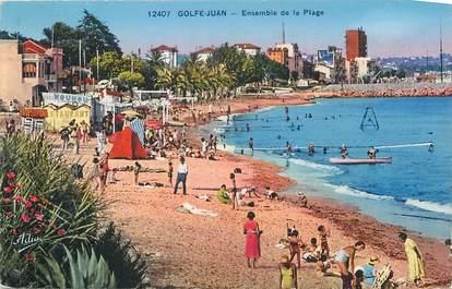 ".CPA  FRANCE 06  ""Golfe Juan, Ensemble de la plage"""