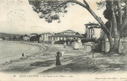 """.CPA  FRANCE 06  """"Juan les Pins, Le casino et les villas"""""""