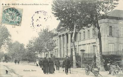 """.CPA FRANCE 19 """" Brive,  Boulevard et Palais de Justice"""""""