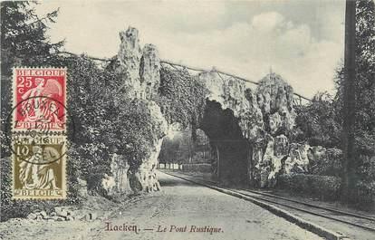 """CPA BELGIQUE """"Laeken, le pont rustique"""""""