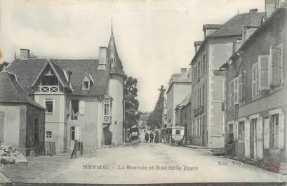 """.CPA  FRANCE 19  """"Meymac , La bascule et rue de la poste"""""""