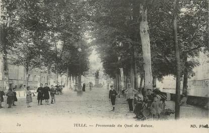 ".CPA FRANCE 19 ""Tulle, Promenade du Quai de Baluze"""