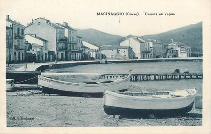 ".CPA FRANCE 20 / CORSE ""Macinaggio, Canots au repos"""