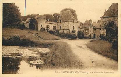 """CPA FRANCE 29 """"Saint Renan, Chateau de Kervéatoux"""""""