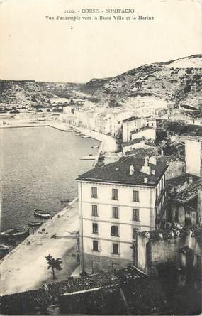 """.CPA FRANCE 20 / CORSE """"Bonifacio, Vue d'enselble vers la basse ville et la marine"""""""
