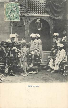 """CPA EGYPTE """"un café arabe"""""""