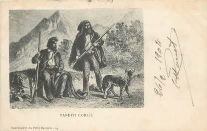""".CPA FRANCE 20 / CORSE """"Bandits Corses""""/FOLKLORE"""