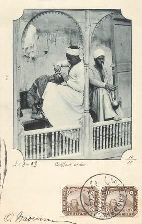 "CPA EGYPTE ""un Coiffeur arabe"""