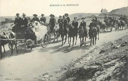 """.CPA FRANCE 20 / CORSE """"Mariage à la montagne"""" / FOLKLORE"""
