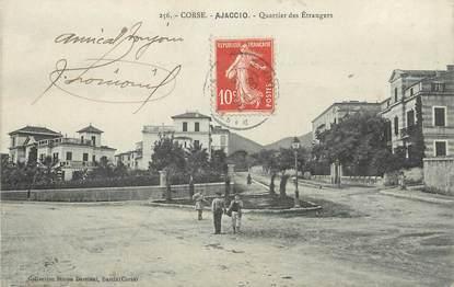 """.CPA FRANCE 20 / CORSE """"Ajaccio, Quartier des étrangers"""""""