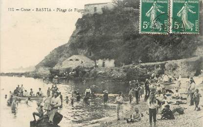 """.CPA FRANCE 20 / CORSE """" Bastia, Plage de Figayola"""""""