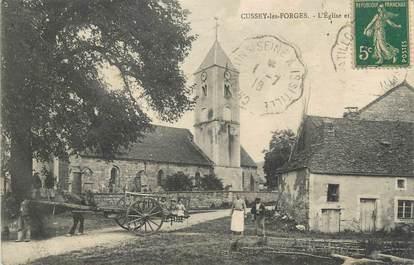 """.CPA FRANCE 21 """"Cussey les Forges, L'église"""""""