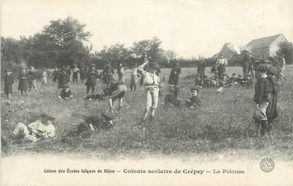 ".CPA FRANCE 21 ""Crépey, Colonie scolaire"""