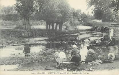 """.CPA FRANCE 21 """"Chatillon sur Seine, Les grandes grilles"""""""