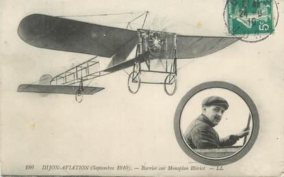 ".CPA FRANCE 21 ""Dijon, Barrier sur monoplan Blériot"""