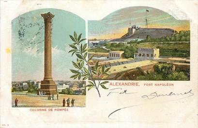 """CPA EGYPTE """"Alexandrie, la Colonne de Pompée et le Fort Napoléon"""""""