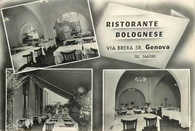 "CPSM  ITALIE ""Genova, Restaurant"""