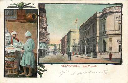 """CPA EGYPTE """"Alexandrie, Rue Rosette"""""""