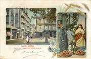 """Egypte CPA EGYPTE """"Alexandrie, la Place de l'Eglise et Hotel Abbat"""""""
