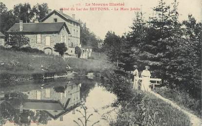 """.CPA  FRANCE 21  """"Le Lac des Settons, Hôtel La mare Jolivet"""""""