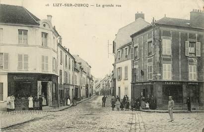 "CPA FRANCE 77  ""Lizy sur Ourcq, La Grande Rue"""