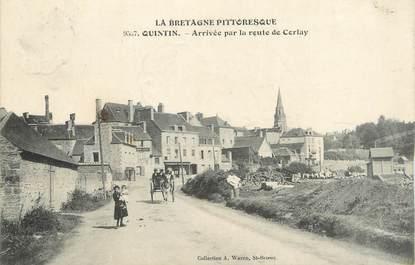""".CPA   FRANCE 22 """" Quintin, Arrivée par la Route de Corlay"""""""