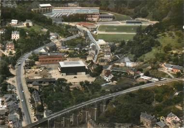 "CPSM FRANCE 76 ""Bolbec, le Viaduc, le stade"""
