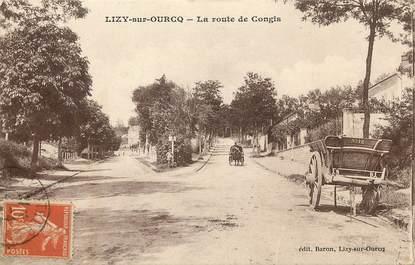 """CPA FRANCE 77  """"Lizy sur Ourcq, La Route de Congis"""""""