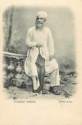 """CPA  INDE """"Parsee Priest"""""""