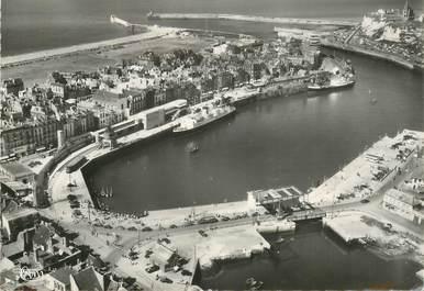 """CPSM  FRANCE 76 """"Dieppe, vue aérienne, le port"""""""