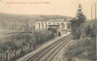 """. CPA  FRANCE 86 """" St  Benoit, La gare et le Viaduc"""""""